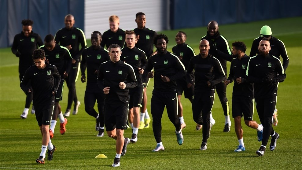 Man city in training