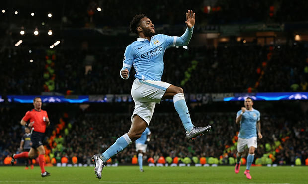 Raheem Sterling Celebrating