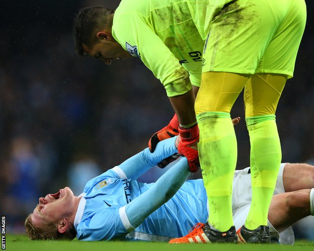 Kevin de Bruyne injured