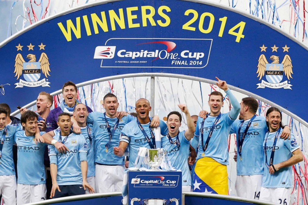 Mancity won the Capital One Cup in 2014 - Image Source: Footballmouth