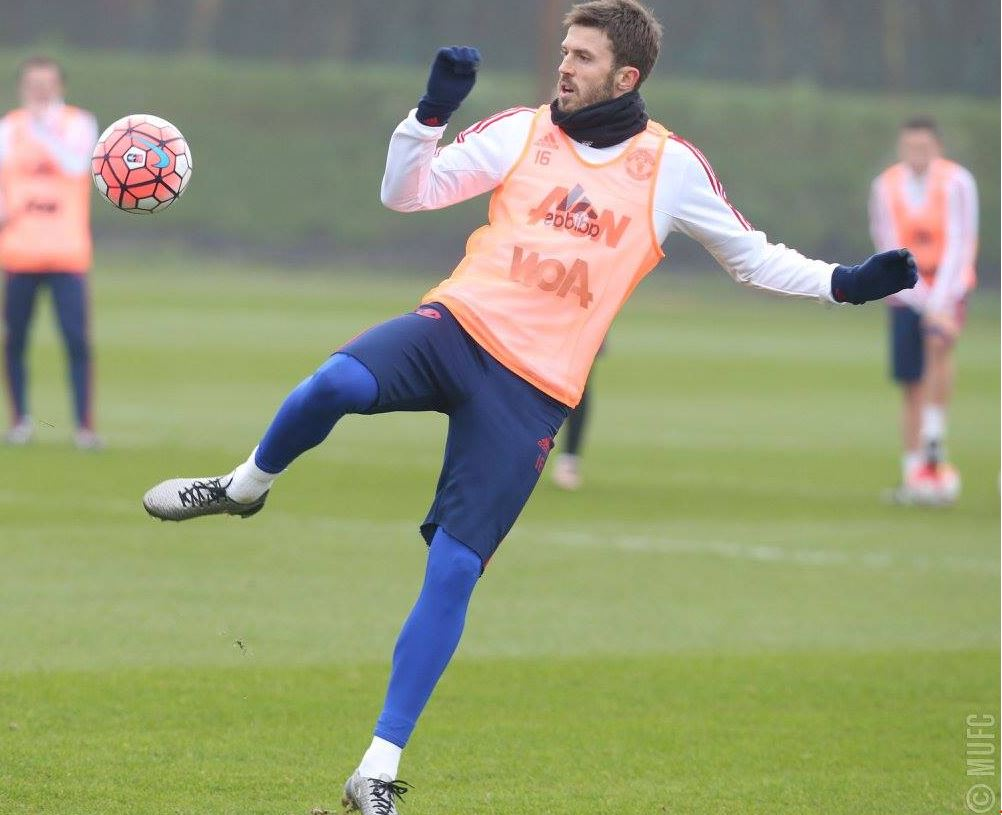 Manchester United train ahead of the FA Cup
