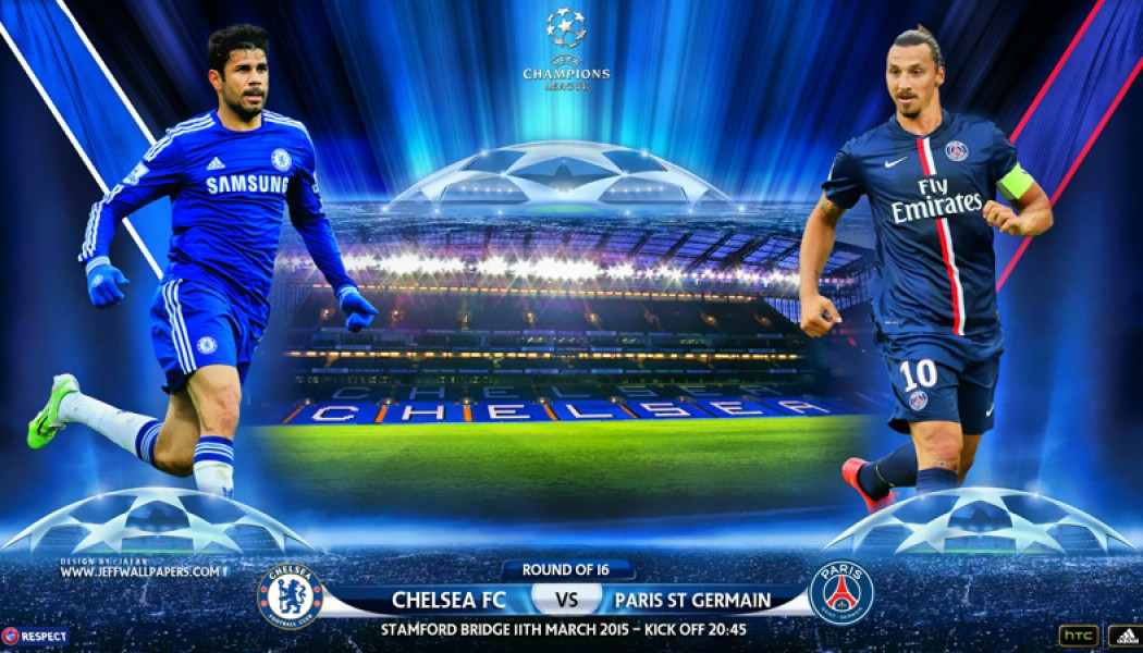 Champions League round 16 PSG VS Chelsea