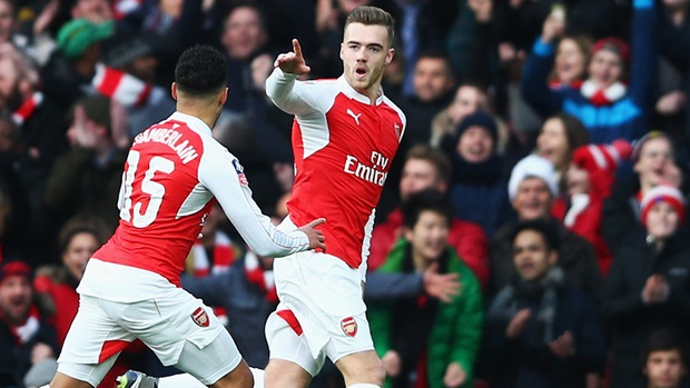 Calum Chambers scores for Arsenal - Images Source: The FA Cup