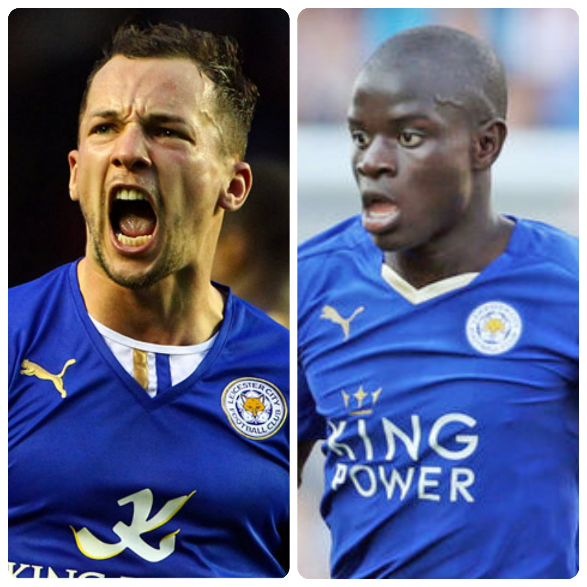Leicester's dynamic duo: Drinkwater and Kante Image source: Express.co.uk & c.smimg.net