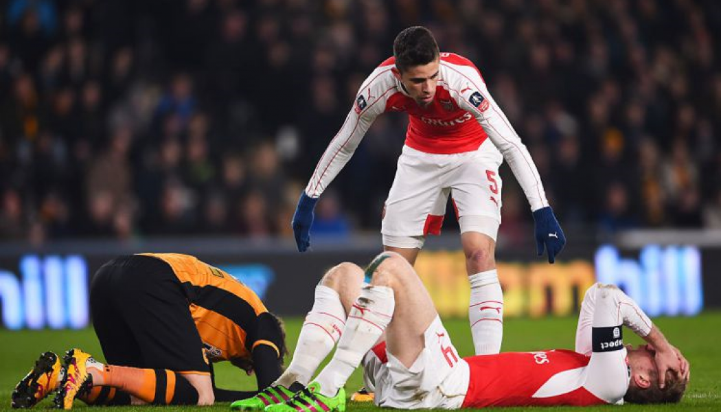Arsenal suffer triple injury in FA Cup clash