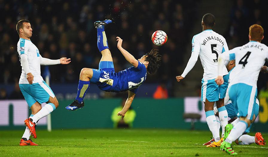 Shinji Okazaki overhead kick