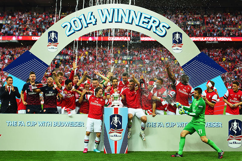 Arsenal won the FA Cup in 2014