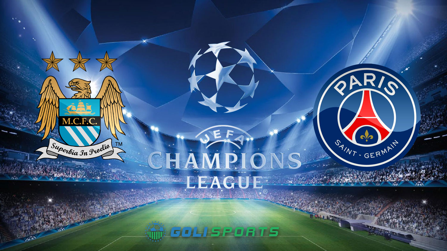 Champions League Man City VS PSG and Madrid VS Wolfsburg - Goli Sports