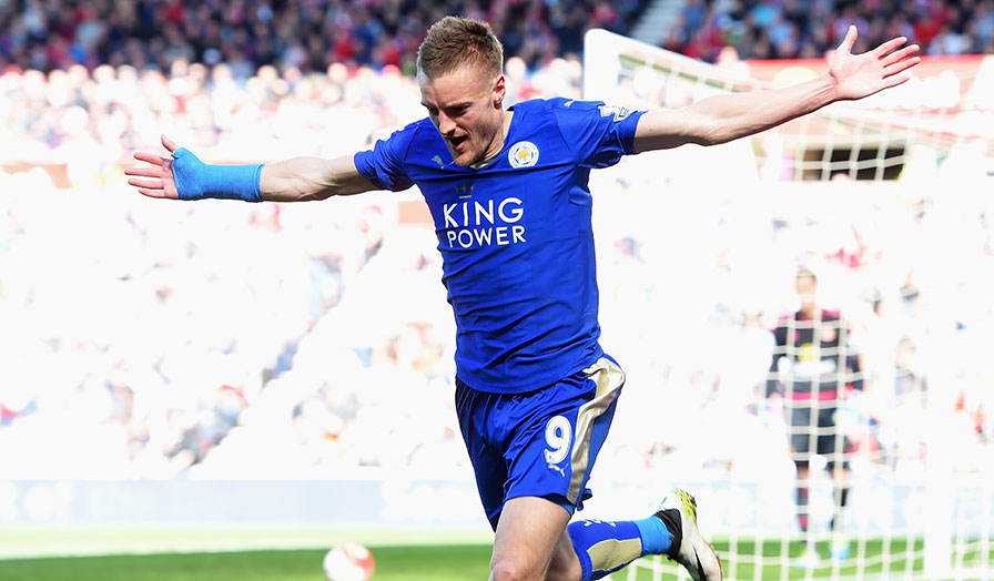 Leicester hero Vardy is expected to miss the clash this weekend due to his ban.