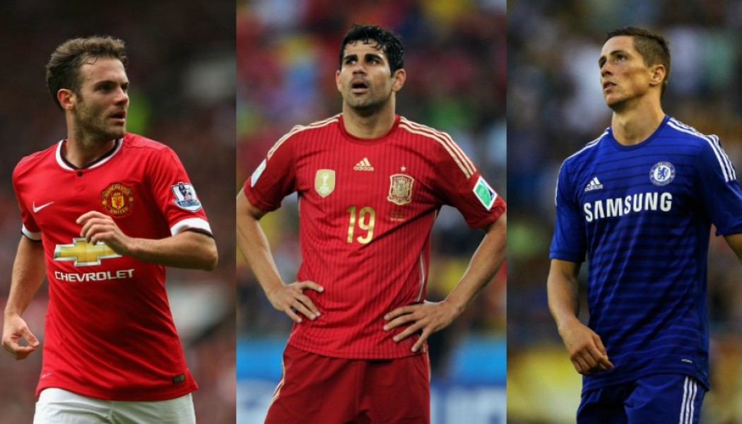 Mata, Torres and Costa not in Spain's Euro squad.