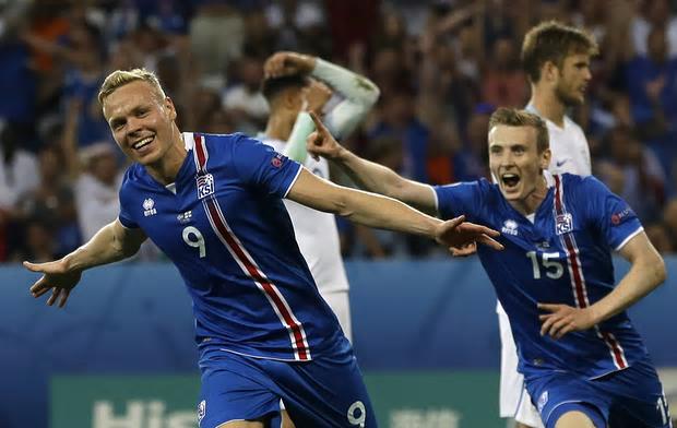 Iceland score Kolbeinn