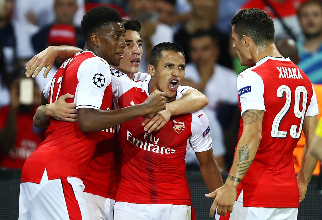 during the UEFA Champions League Group A match between Paris Saint-Germain and Arsenal FC at Parc des Princes on September 13, 2016 in Paris, France.