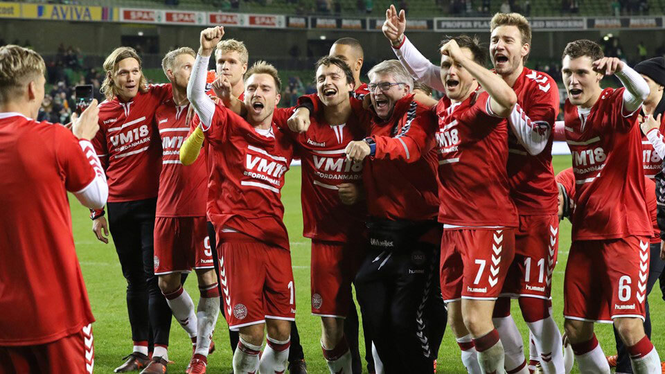 Denmark qualify for the world cup