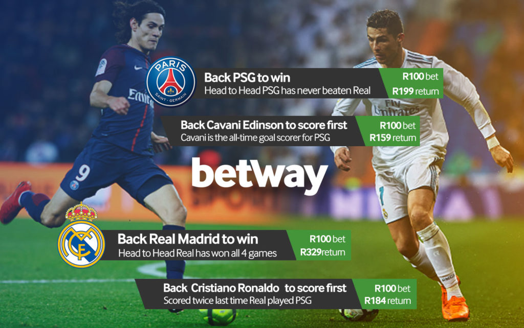 Betway best bets PSG VS Real Madrid