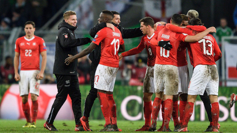 Switzerland qualify for the 2018 world cup