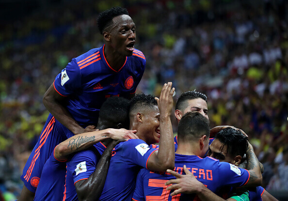 Colombia celebrate their victory