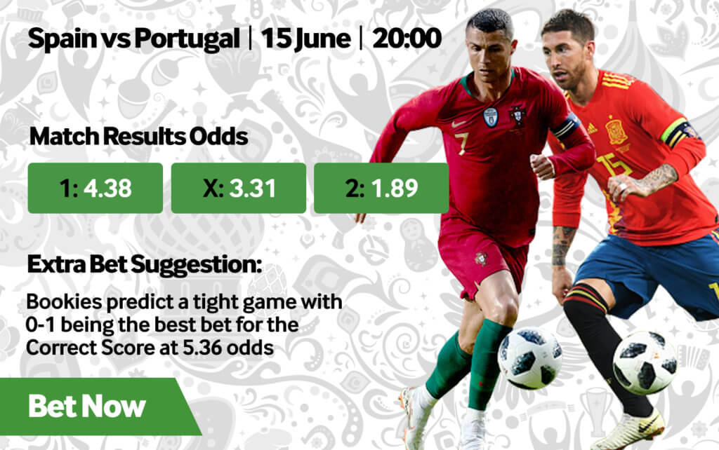 Portugal VS Spain World Cup odds