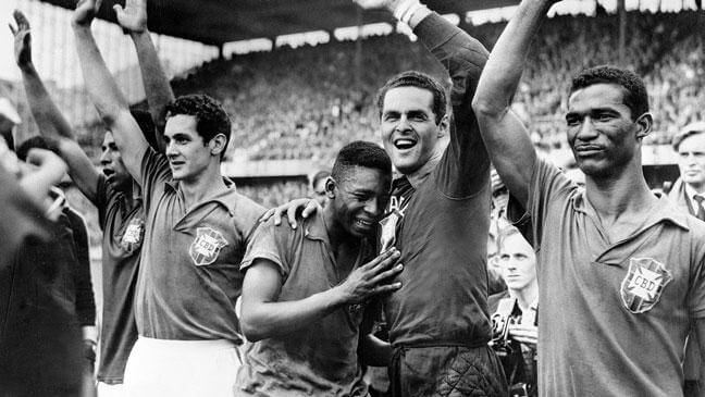Pele was overcome with emotion when he won his first World Cup