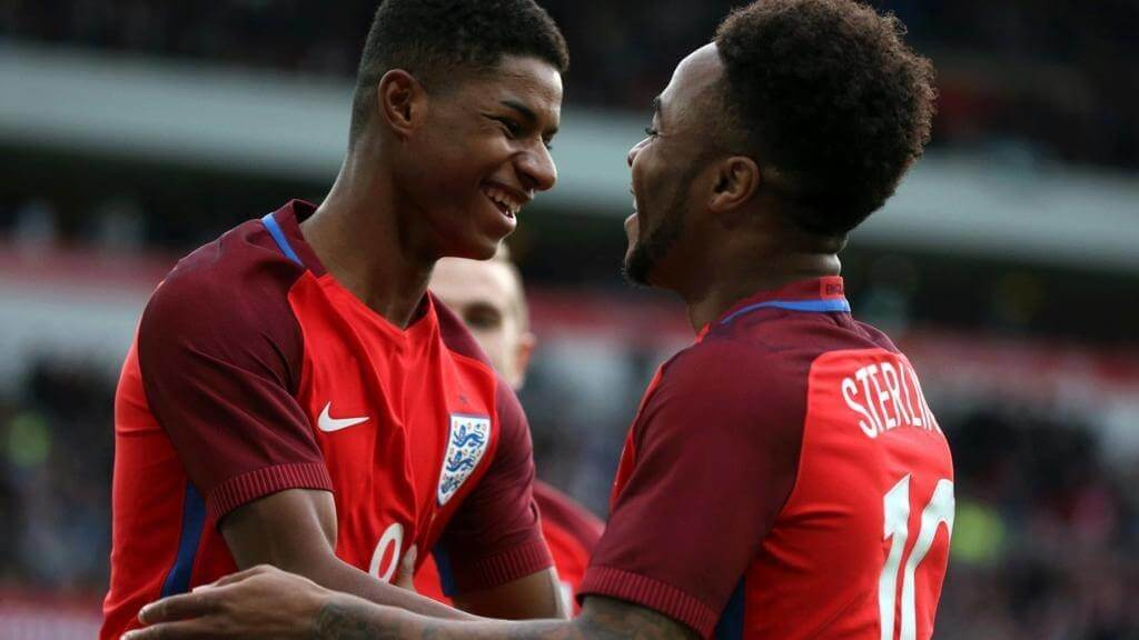 Marcus Rashford and Raheem Sterling