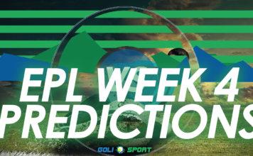 EPL week 4 predictions
