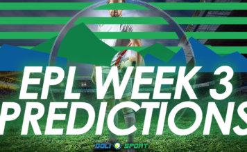 EPL week 3 predictions
