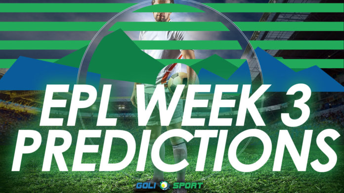 EPL week 3 predictions