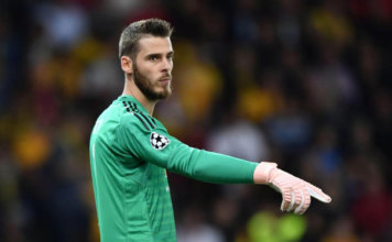 David De Gea in action for Man United