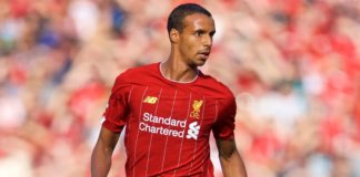 Joel Matip in action for Liverpool