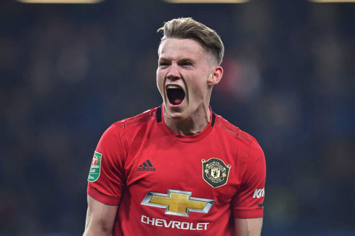 Scott McTominay in action forManUnited.