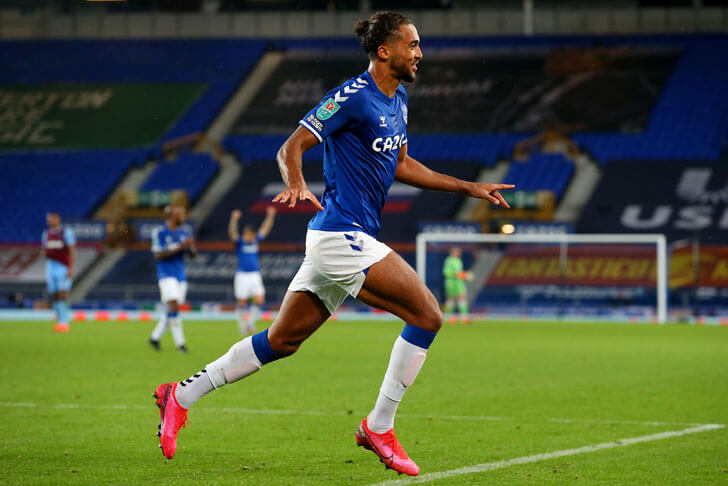 Everton forward Dominic Calvert-Lewin